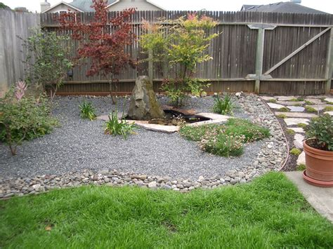 Rock Landscaping Ideas Backyard Small Spaces Simple And Low Maintenance Backyard Landscaping House Design With Small Ponds And