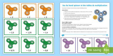 feuille de table de multiplication jeu de d 233 fis du spinner et des tables de multiplication