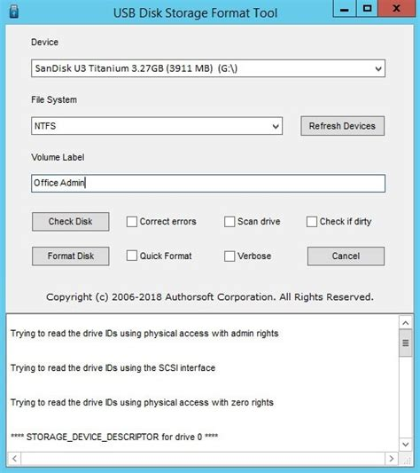 format cd as usb usb disk storage format tool for windows 10 8 7 vista