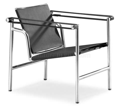 le corbusier style black or white genuine leather leisure