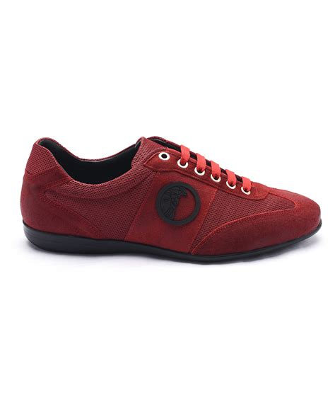 versace sneakers for versace medusa logo low top sneakers in for lyst