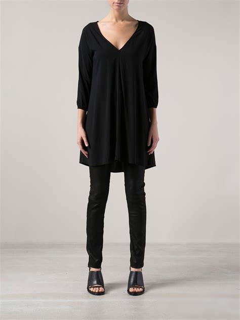 Tunik Jacket By Mlb 1 lyst v neck tunic top in black