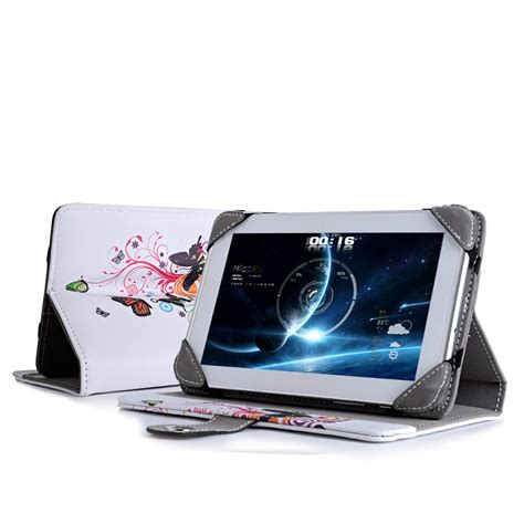 Lcdompet Tablet Universal 7in universal 7 quot inch pu leather wallet cover folio stand for android tablet pc ebay