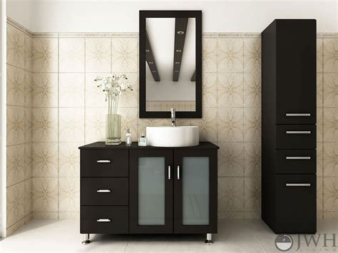 asymmetrical bathroom vanity 39 quot lune single bathroom vanity espresso bathgems com