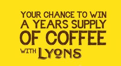Your Chance To Win Free Stuff by Win A Years Supply Of Lyons Coffee Plus The Chance To Win