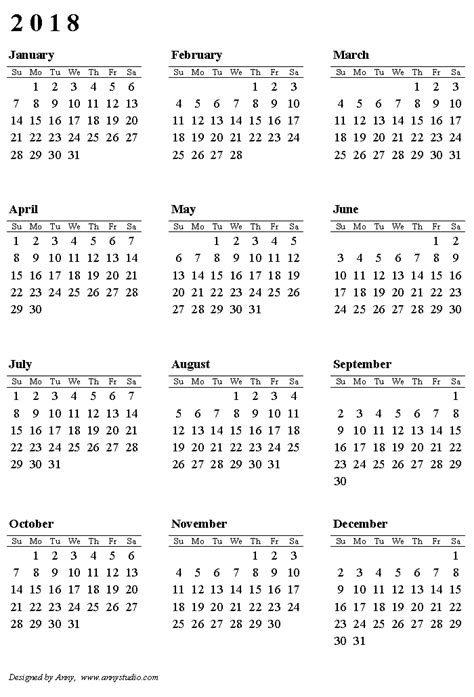 5 Year Calendar 2014 To 2018 2013 2018 Printable Calendar Gallery