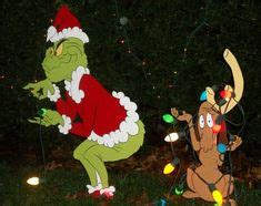 grinch yard decorations pulling down our christmas lights
