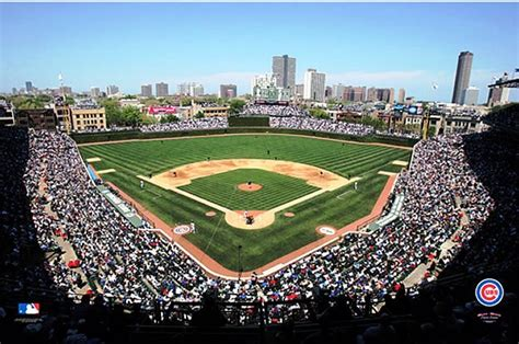 chicago cubs wrigley field wall murals chicago cubs wrigley field mural wall decal shop fathead