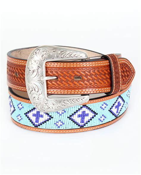 western beaded belts cowboy chrome blue cross indian bead belt www