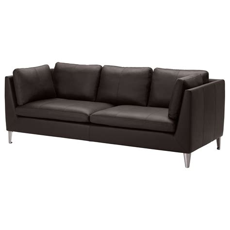Stockholm Leather Sofa Stockholm Three Seat Sofa Seglora Brown Ikea