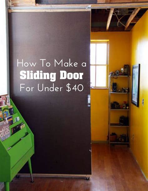 diy home decor how to make a sliding door for 40