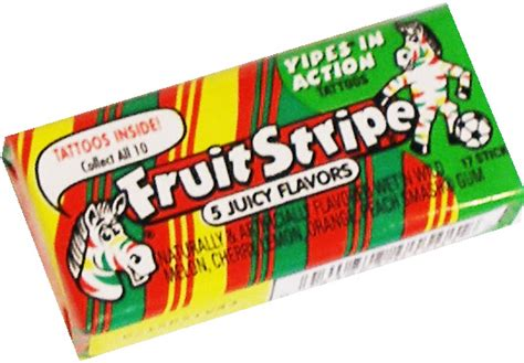 ferrara candy company fruit stripe chewing gum 2ct