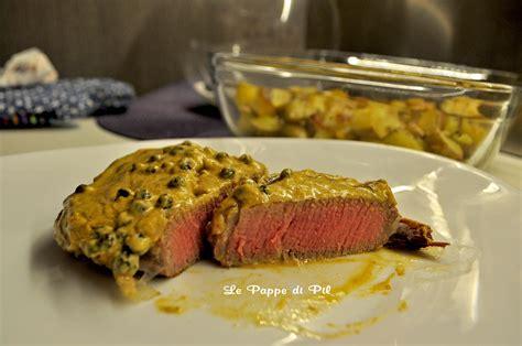 come cucinare il filetto di manzo in padella filetto di manzo con salsa alla senape e pepe verde le