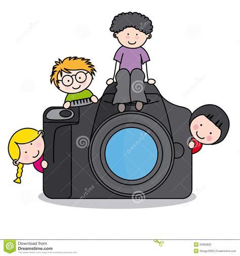 clipart macchina fotografica bambini con una macchina fotografica illustrazione