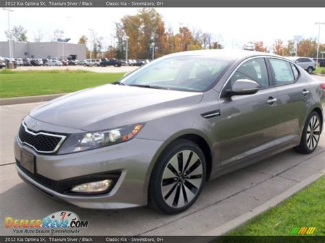2012 Kia Optima Sx 2012 Kia Optima Sx Titanium Silver Black Photo 3
