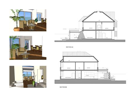 home extension plans architect designed rear house extension grove park