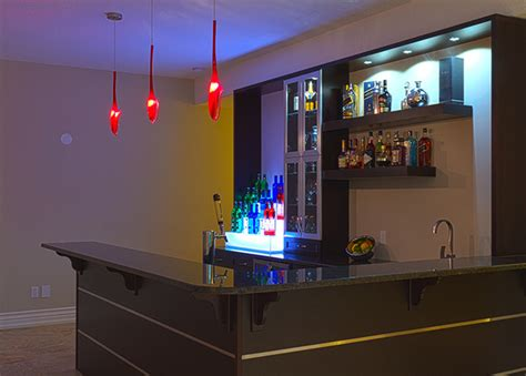 modern bar room custom bar modern family room toronto by beyond the stage homes