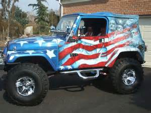 Jeep Careers Best Airbrush Usa Flag On Jeep Car Car