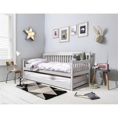 single day bed isabella day bed with pull out trundle in white noa nani
