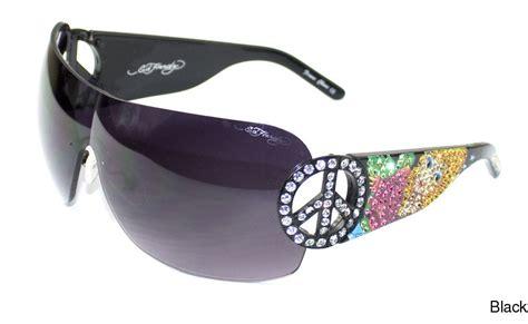 buy ed hardy ehs 027 rimless frameless sunglasses