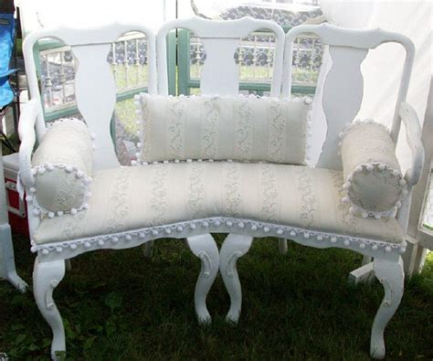 shabby chic benches bench shabby cottage chic paris french style upcycled made