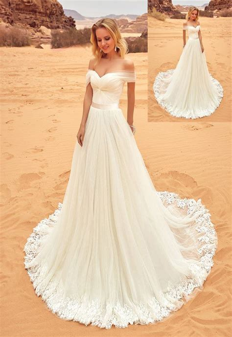 Beach Wedding Dresses,Long Lace Wedding Dresses,Handmade