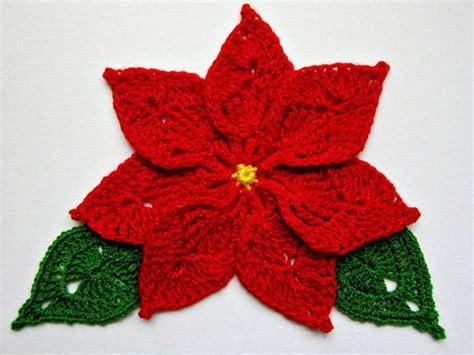 pattern crochet poinsettia crochet red poinsettia christmas pinterest crochet