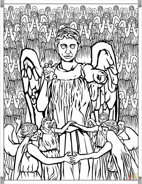 weeping angel coloring page 97 click to see printable version of angel moroni