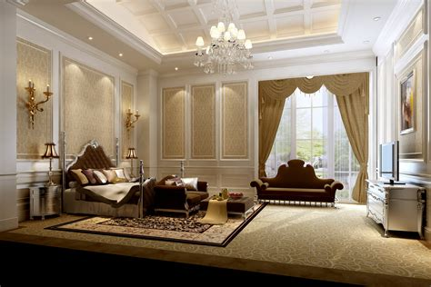 luxurious bedroom very luxury bedroom 3d model max cgtrader com