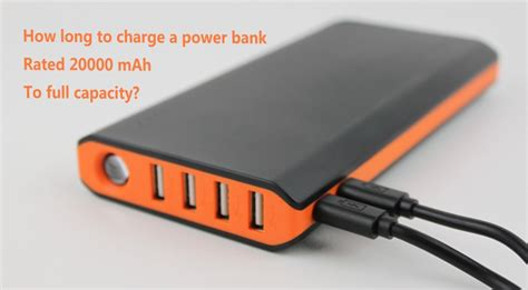 how to charge a power bank 20000 mah to capacity