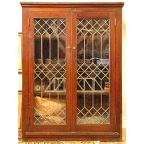 Library Cabinet With Glass Doors Leaded Glass Door Library Cabinet