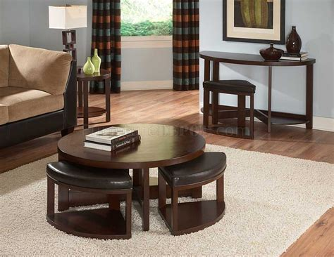 console table with ottomans brussel ii 3292 01 coffee table by homelegance w options
