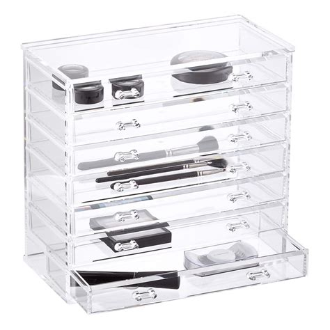 clear storage dresser 7 drawer premium clear acrylic chest the container