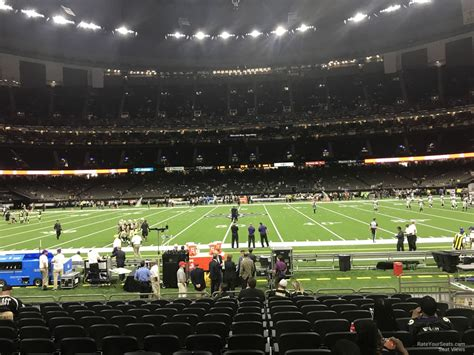 superdome sections superdome section 115 new orleans saints rateyourseats com