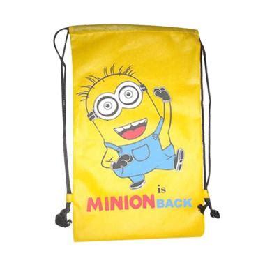 Tas Sekolah Anak 4 In 1 7d Minion jual kobucca shop minions drawstring bag tas sekolah kuning harga kualitas terjamin