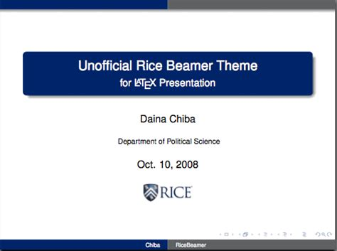 best latex presentation template latex resources for rice
