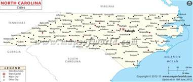 map of carolina major cities cities in carolina carolina cities cities in nc