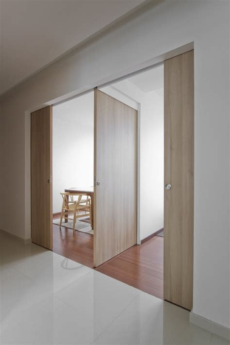 Three Pocket Doors Meet To Make 2 Rooms That Are Other Pocket Closet Doors Sliding