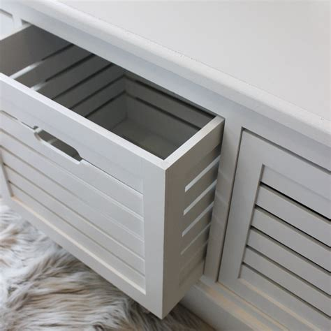 Storage Bench Bathroom Storage Bench Three Drawers White Bedroom Hallway Shoes Bathroom Crate Seat Box Ebay