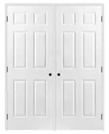 Home Depot Solid Core Interior Door 6 Panel Double Closet Doors Roselawnlutheran