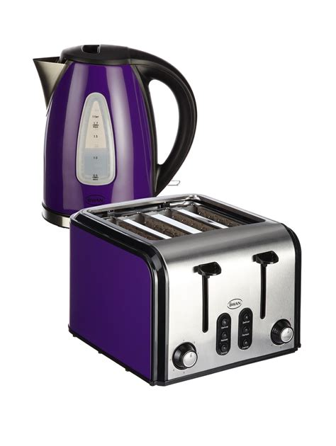 Purple Kettle And Toaster toaster kettle set shop for cheap toasters and save