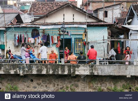 substandard housing substandard housing and daily life of unidentified indonesian people stock photo