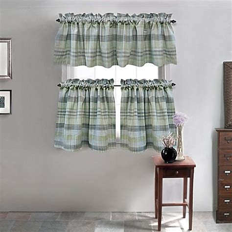 cafe curtains bed bath and beyond park b smith sumatra cafe window curtain tier pair bed