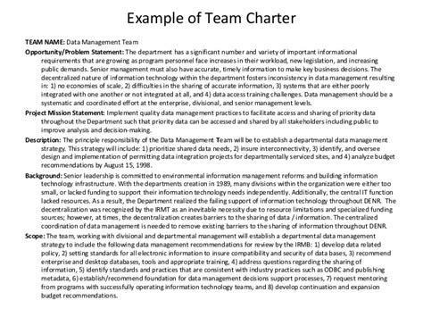 team charters templates team charter exle by spas karabelov