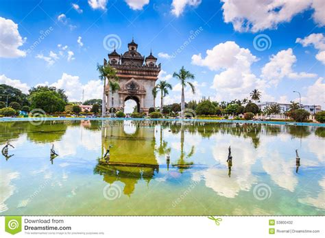 Sanjaya Literally Means Victory by Victory Gate Or Gate Of Triumph In Laos Stock Photo