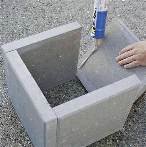 Concrete Paver Planters by Diy Concrete Paver Planter Boxes