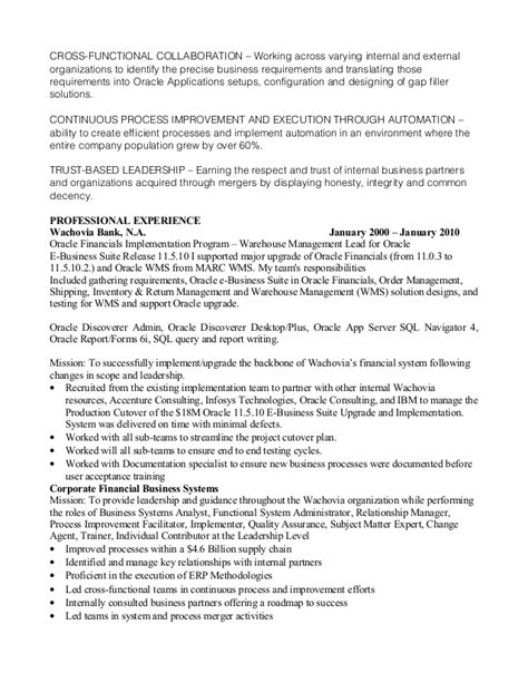 oracle business analyst 1 1