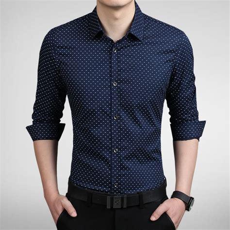 Kemeja Pria Kasual Br Grey T991 camisa masculina esta discreta azul escuro mandoras