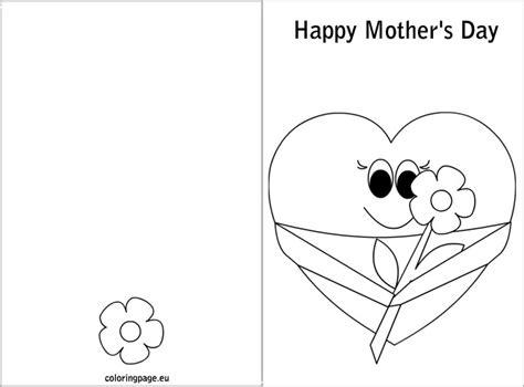 mothers day card templates s day card coloring s day
