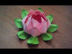 How To Make Lotus Flower From Paper How To Make An Origami Lotus Flower